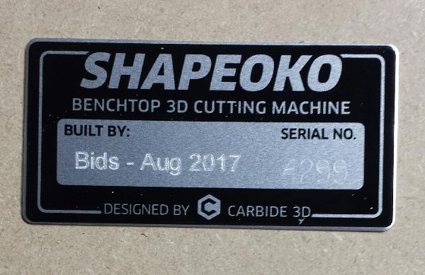 shapeoko tag
